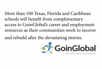 Goinglobal Donates Market-Leading Career Resources to Schools Affected by Hurricanes